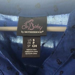 Size small Oh Baby by Motherhood blue black shirt